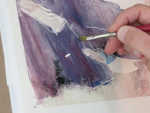 pastel monoprint demo 9d by Michael Chesley Johnson | pastel monoprint