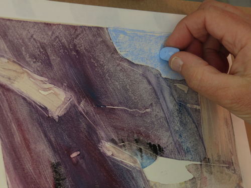 pastel monoprint demo 9e by Michael Chesley Johnson | pastel monoprint