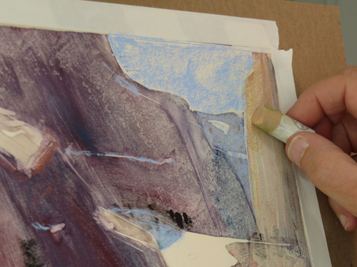 pastel monoprint demo 9f by Michael Chesley Johnson | pastel monoprint
