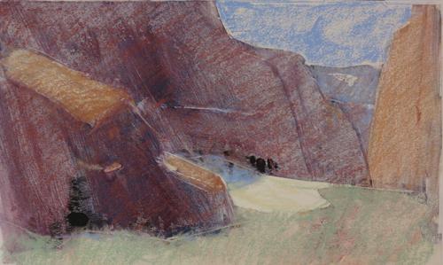 pastel monoprint demo 9g by Michael Chesley Johnson | pastel monoprint