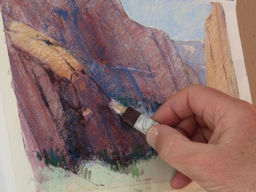 pastel monoprint demo 9h by Michael Chesley Johnson | pastel monoprint