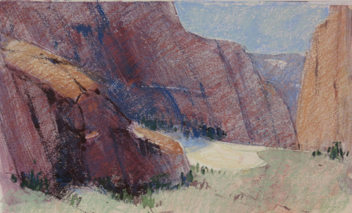 pastel monoprint demo 9i by Michael Chesley Johnson | pastel monoprint