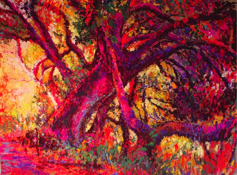 Song of the Trees (pastel, 18x24) by Maria Marino | pastel studies