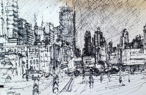 Hell's Kitchen Skyline by Maria Marino | pastel studies