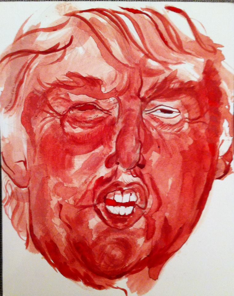 Political art: Painting of Trump by Sarah Levy.