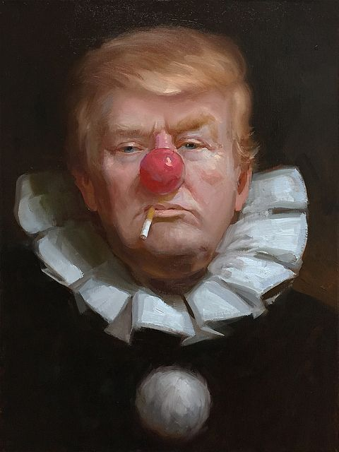 Political art: Trump as clown by Tony Pro