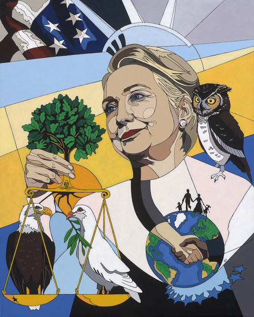 Political art: In Honor of Hillary Clinton by Konni Jensen