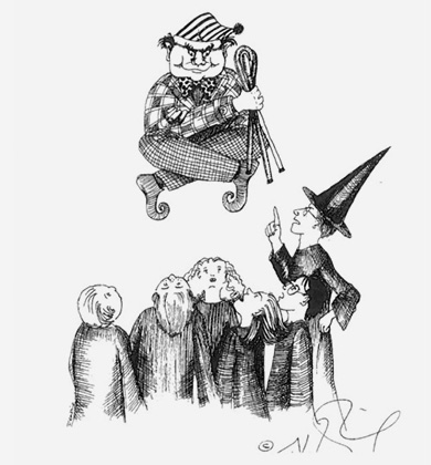 JK Rowling drawing.