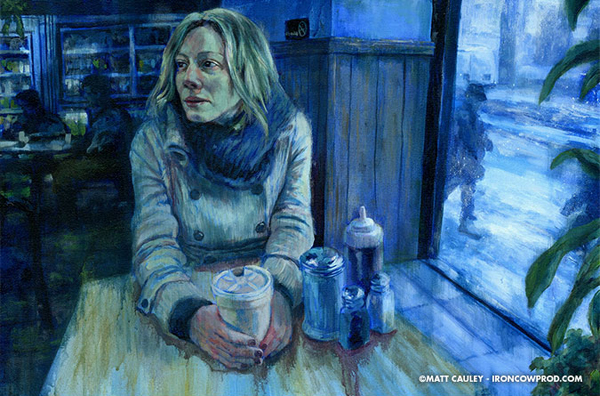 Morning Sludge (acrylic on canvas, 20x30) Matt Cauley, Acrylic Artist