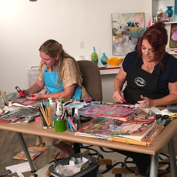 Behind the Scenes - Art Journaling