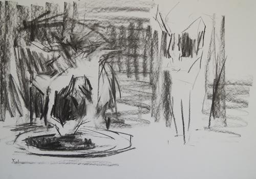 charcoal_cat_charcoalstudy_latefordinner_yaelmaimon | artistsnetwork.com
