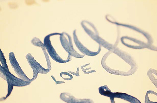Hand lettering by Emily Cromwell