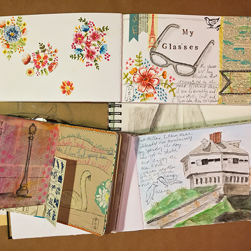 Journals for art challenges