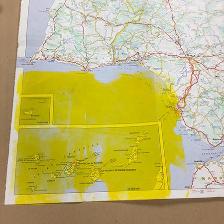 Monoprinting over maps