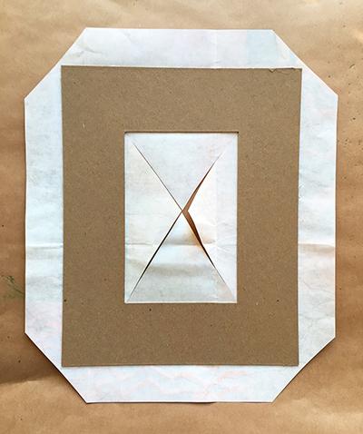 Printed paper frame