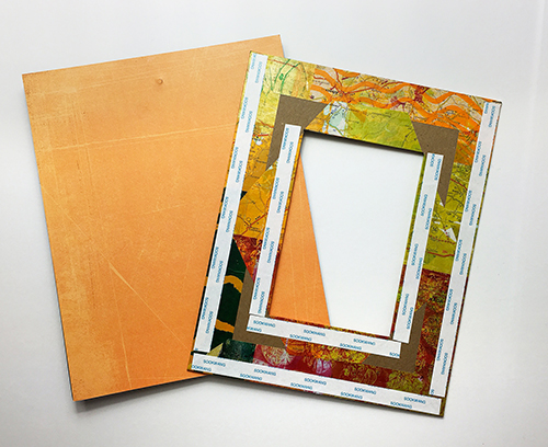 Handmade chipboard frame