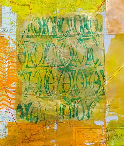 Monoprinting ghost print
