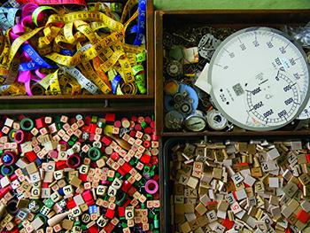 Assemblage art items by Jen Hardwick