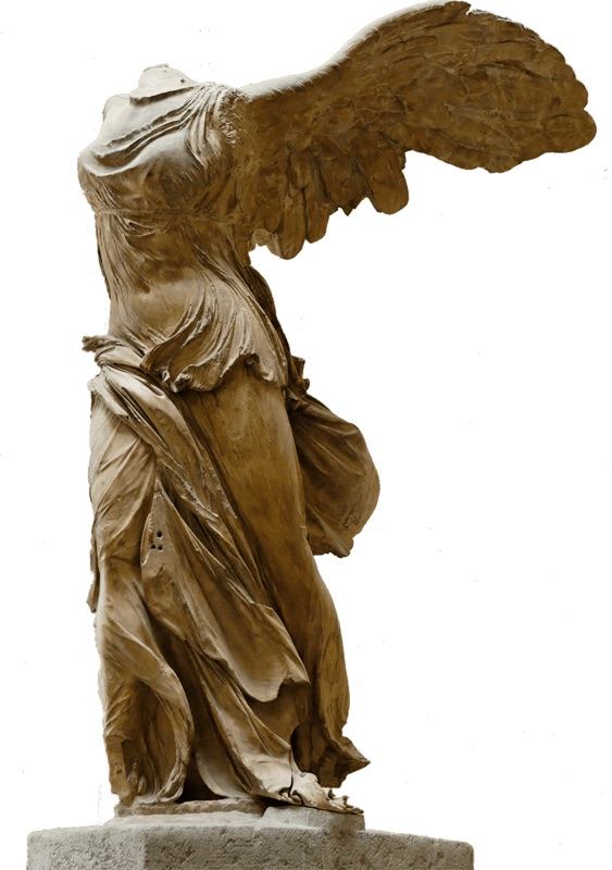 Winged Victory of Samothrace.