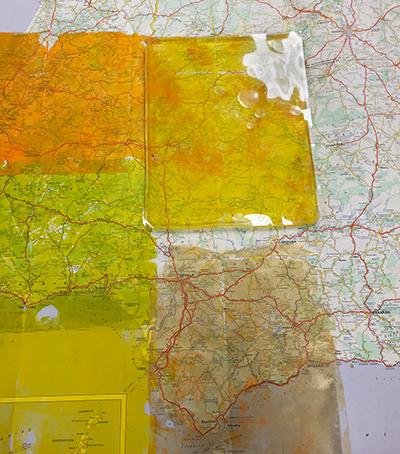 Monoprinting on maps