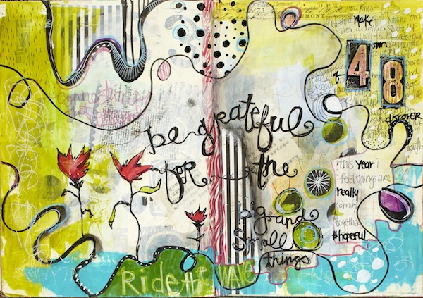 Behind the scenes- jodi-ohl-art-journaling