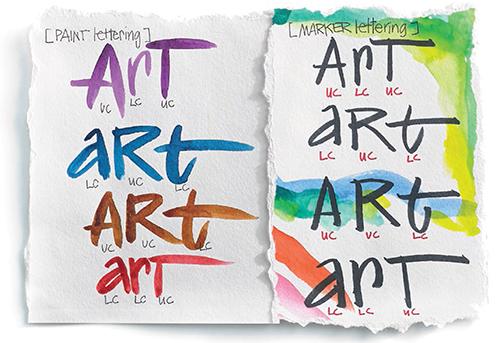 Hand lettering by Joanne Sharpe