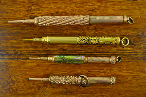 Best Mechanical Pencil: Antique | best mechanical pencils, Drawing magazine, drawing tips, antique mechanical pencils by Mabie, Todd & Co., circa 1870.
