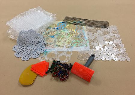 Hand printing materials