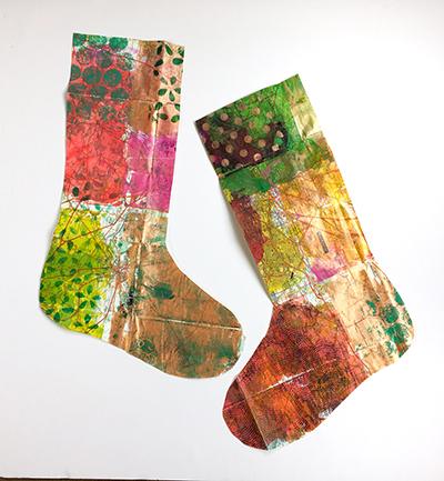 Printed paper stockings