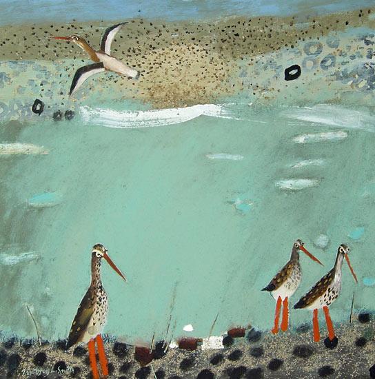 Stony Beachy Redshanks by Ingebjorg Smith.