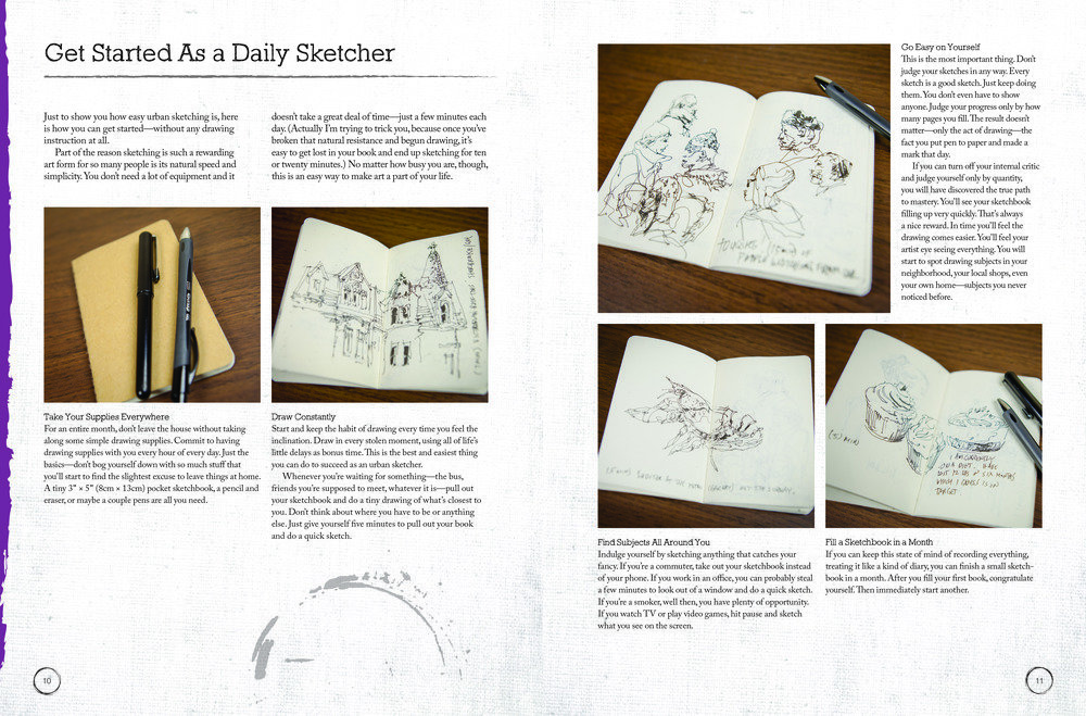 Daily sketching in a travel journal | The Urban Sketcher