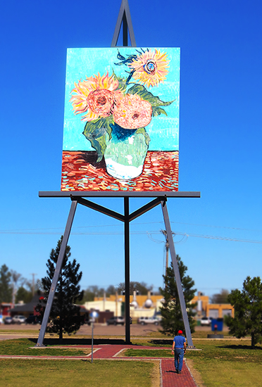 Plein air painting: Giant Easel