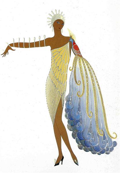 Bird painting: Diva II by Erte.
