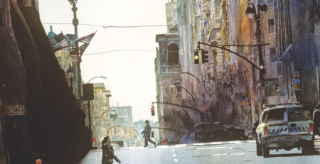 Early Morning, NYC by John Salminen, detail | An Exclusive Interview Between John Salminen and Artists Network