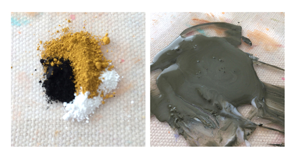 dry pigments to make warm grey | How to Make Your Own Paint | Acrylic Earth Pigments | ArtistsNetwork