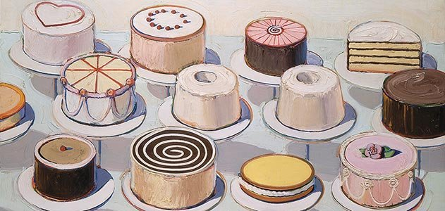 Cakes by Wayne Thiebaud.