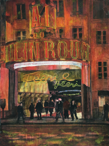 watercolor_landscape_showtime_moulin_rouge_30x23_nadine_charlsen | artistsnetwork.com