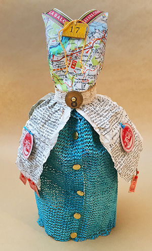 Recycled mixed-media dress