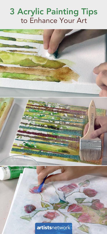 3 Acrylic Painting Tips | Sandrine Pelissier | ArtistsNetwork.com