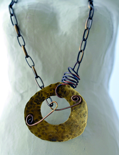 Stamped Metal and Mica Pendant video with Jen Cushman