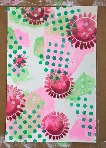 More layering stencils with polka dots