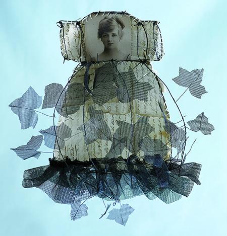 Art dress by Annie Waldrop featured in Cloth Paper Scissors magazine