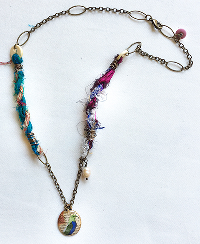 Mixed-media necklace