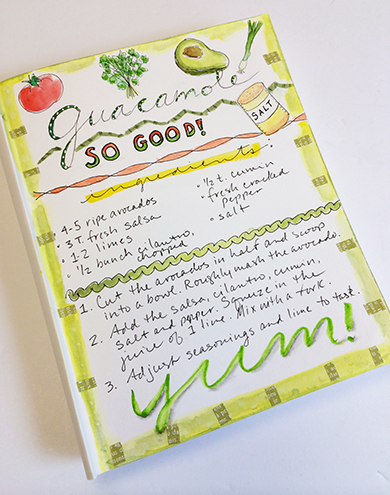 Hand lettered recipe