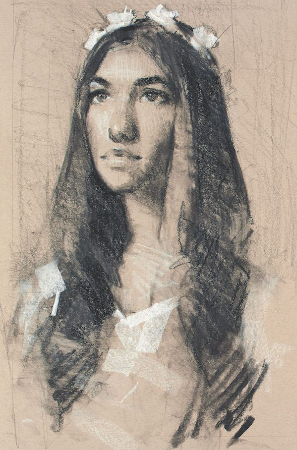 Learn To Draw, Portraits, Drawing Portraits, Alain Picard, Video Demonstration, Drawing Demonstration, The Portrait, Drawing the Portrait, Portrait Study