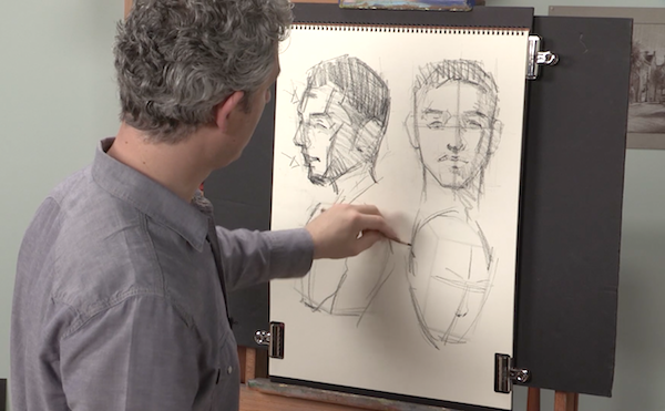 Learn To Draw, Portraits, Drawing Portraits, Alain Picard, Video Demonstration, Drawing Demonstration, The Portrait, Proper Facial Proportions, Head Proportions,