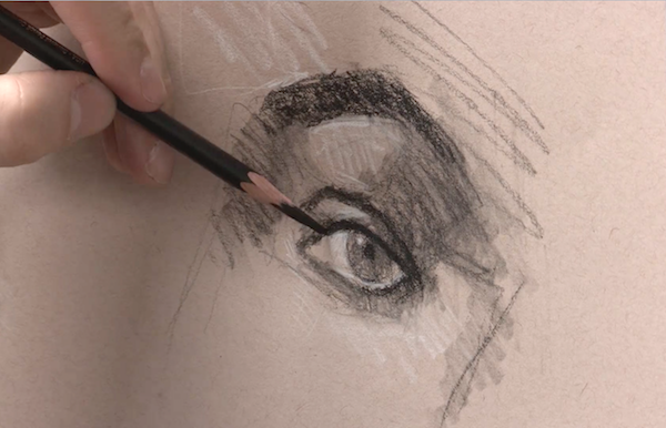 Learn To Draw, Portraits, Drawing Portraits, Alain Picard, Video Demonstration, Drawing Demonstration, The Portrait, Drawing the Eyes, Drawing Eyes