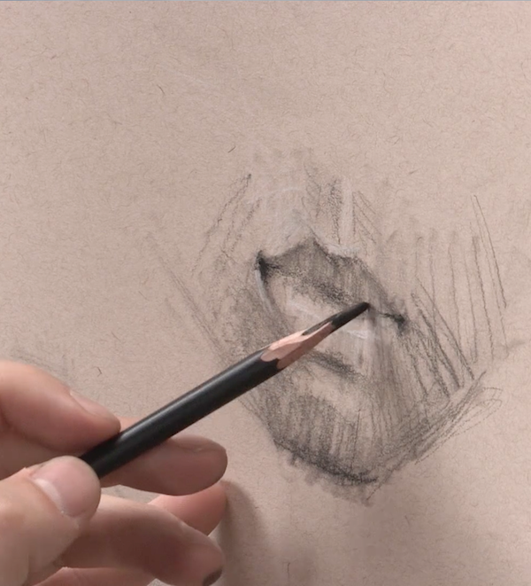 Learn To Draw, Portraits, Drawing Portraits, Alain Picard, Video Demonstration, Drawing Demonstration, The Portrait, Drawing the Mouth, Drawing Mouths, Drawing Lips