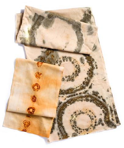 Rust prints by Jennifer Coyne Qudeen from Cloth Paper Scissors magazine