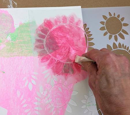 Layering stencil designs